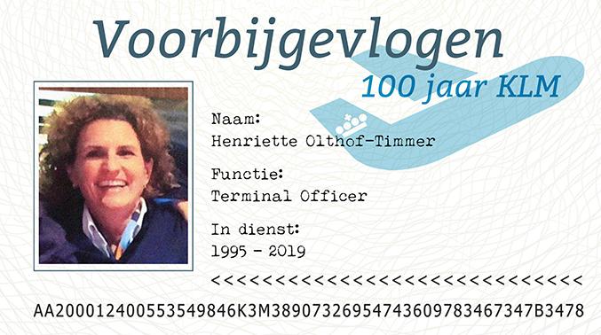 """KLM'er Henriette Olthof-Timmer:  """"Het 'blauwe Gevoel' Maakt Werken Bij De KLM Voor Mij Bijzonder"""""""