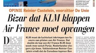 """Bizar Dat KLM Klappen Air France Moet Opvangen"""